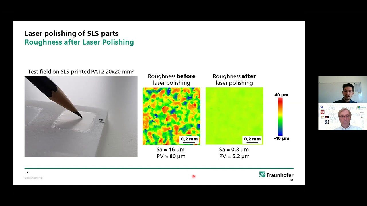 Post Processing for 3D Printing, Laser polishing of 3D Printed Plastic Components