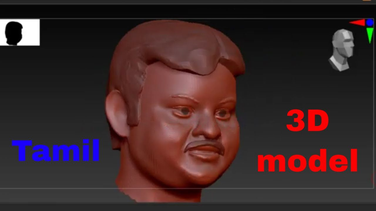 3D design sculpt in zbrush  – 3D PRINTING TAMIL