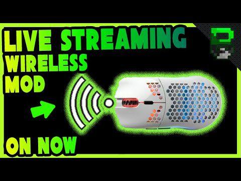 Glorious Model O Wireless G305 Mod using Adrenalinez Custom 3D Printed Base