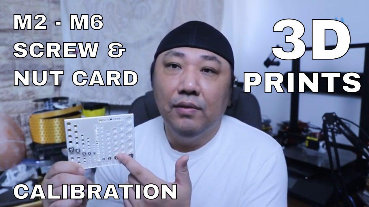 M2-M6 Screw 3d Print Calibration.  Cura Hole Expansion Settings