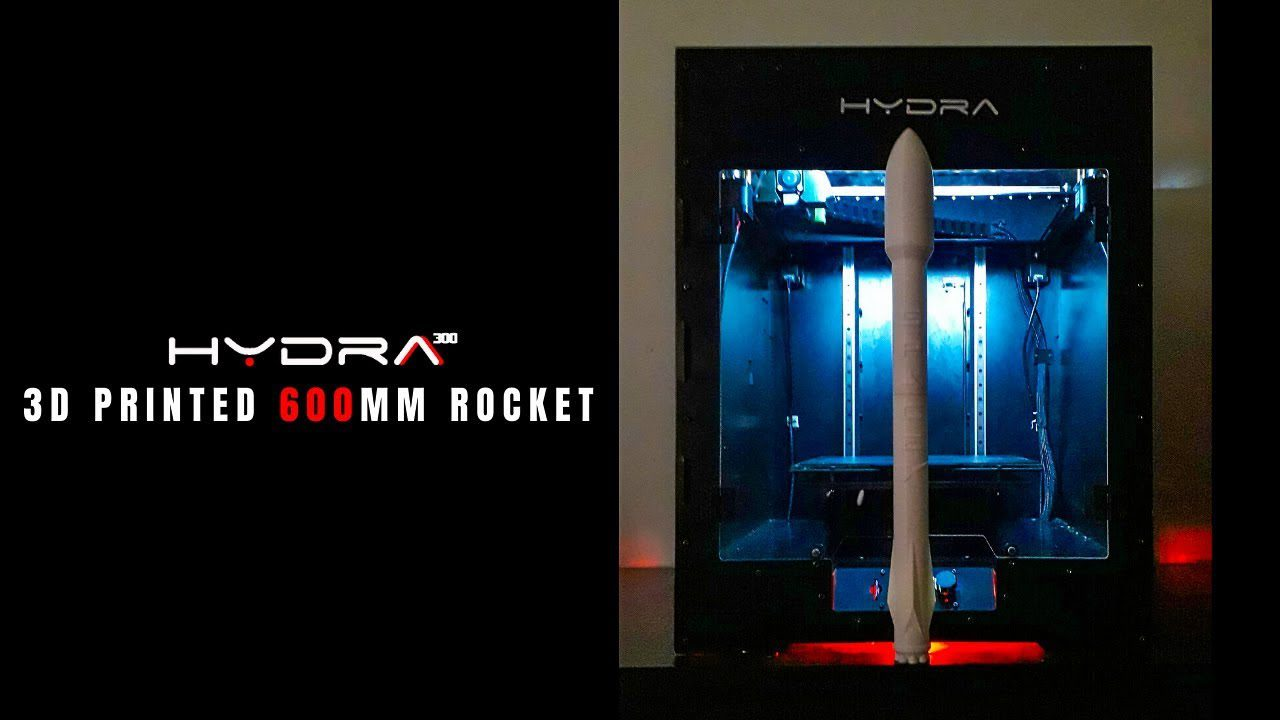 3D Printed 600mm Rocket | HYDRA300 | 3Ding | 3D Printing Timelapse | 2019