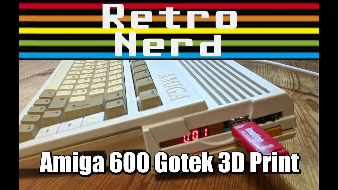 Amiga 600 Gotek 7Seg Internal Housing 3D Print Timelapse