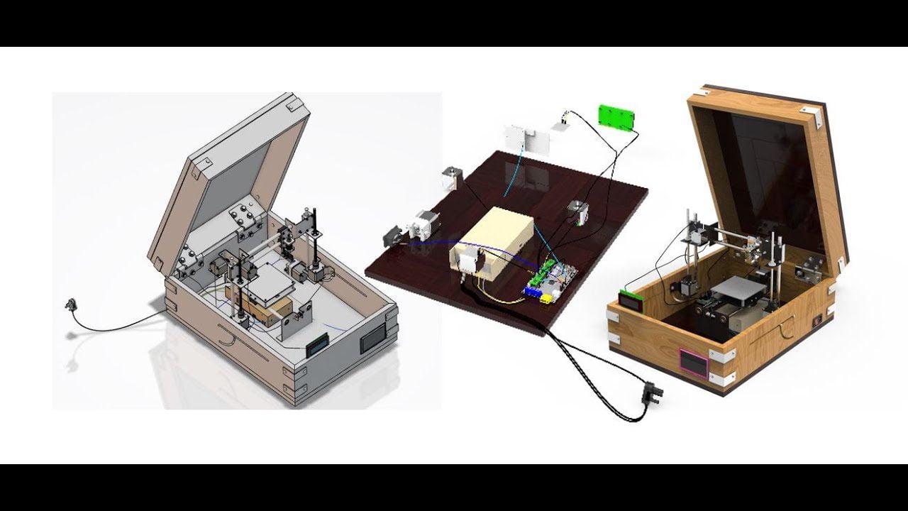 Design and development of Portable 3D printer By using 3DEXPERIENCE | CATIA| DELMIA| SIMULIA| DYMOLA